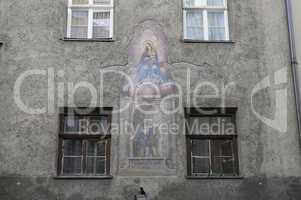 Wandmalerei in Innsbruck