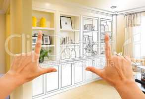 Hands Framing Custom Built-in Shelves and Cabinets Design Drawin