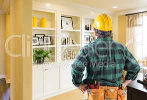 Contractor Facing Custom Built-in Shelves and Cabinets Wall