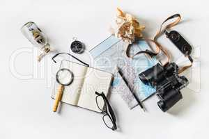 Travel items concept