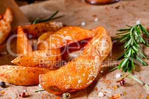 rosemary Potato wedges from the oven