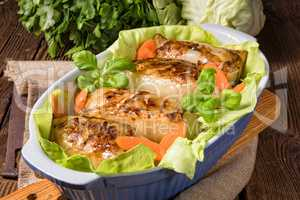 Cabbage rolls with minced meat filling