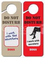 Boss works with secretary