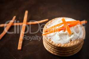 Cookies with strips carrot
