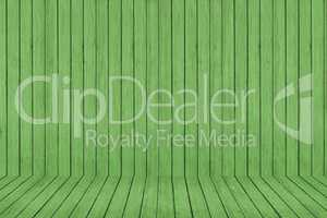 Wood texture background. green wood wall and floor