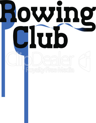 Vector emblem for rowing club