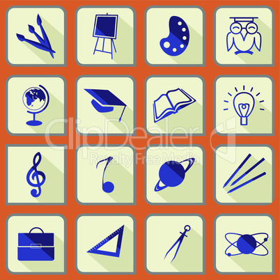 School icon's set