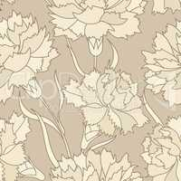 Floral retro seamless pattern. Flower background. Floral seamles