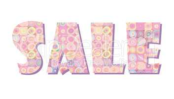 Sale banner. Big summer sale skicker over pink background