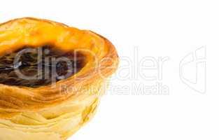 pasteis de nata, typical Portuguese egg tart pastries isolated o