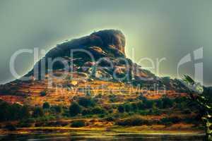 Sacred mountain in India.