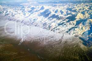 Flight over Pamir and Tien Shan 5