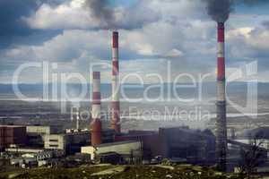 Copper-Nickel plant in smoke