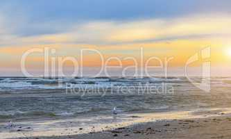 Sunset on the beach - blue hour - Usedom