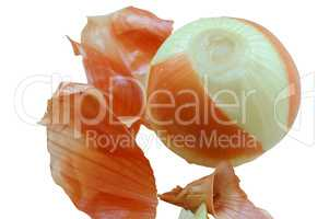 bulbs and onion husk, peel the onion from the husk, cut the onion
