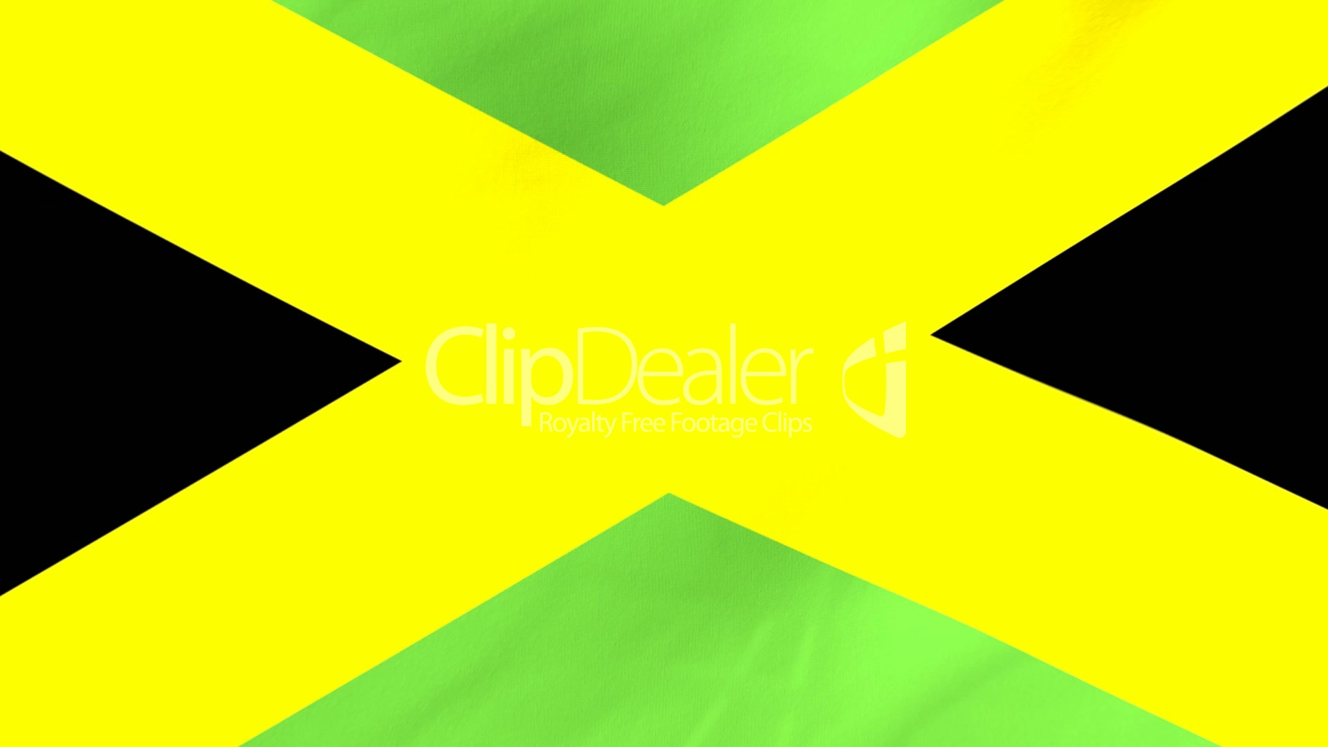 Animated Flag Of Jamaica With A Pin On A Worldmap Royalty Free