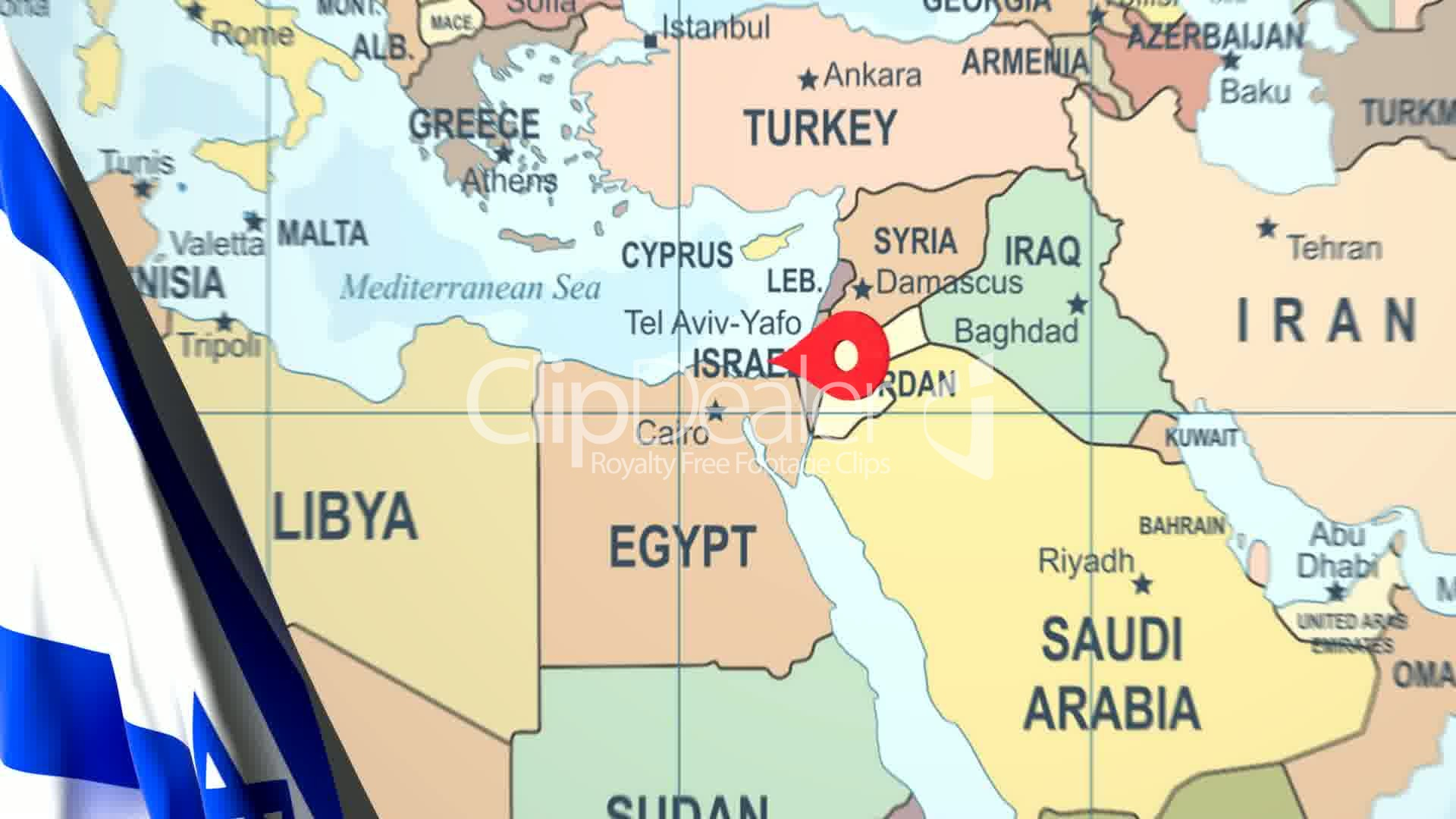 Animated flag of israel with a pin on a worldmap royalty free video clips animated flag of israel with a pin on a worldmap gumiabroncs Gallery