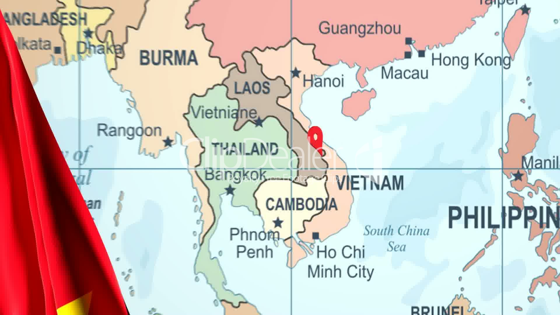 Animated flag of vietnam with a pin on a worldmap royalty free clips animated flag of vietnam with a pin on a worldmap gumiabroncs Choice Image