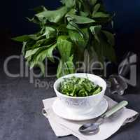 Wild garlic stripes for fresh wild garlic pesto