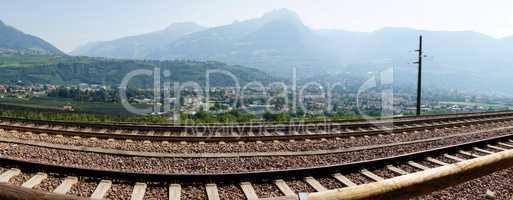 Dorf Tirol und Meran Panorama