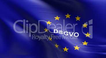 European Union flag with DSGVO