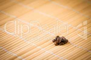 Coffee-beans on bamboo