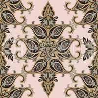 Floral pattern Flourish tiled oriental ethnic background. Arabic
