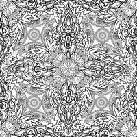 Floral ornament oriental semless pattern. Line ornament