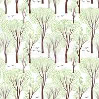 Spring nature seamless pattern. Spring tree. Forest background