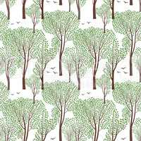 Summer nature seamless pattern Summer tree. Forest background