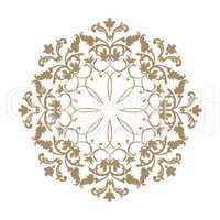 Arabic flower ornament. Floral background. Abstact pattern.