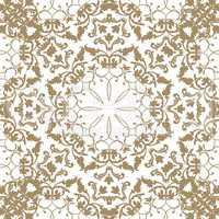 Floral pattern Flourish tiled ethnic background. Arabic ornament.