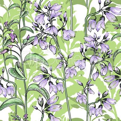 Floral seamless pattern. Flower background. Flourish wallpaper