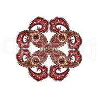 Arabic ornament background Oriental ethnic mandala amulet.
