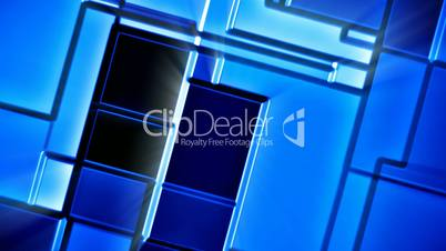 Seamless looping blue shiny mosaic tiles abstract motion background