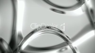 Silver metallic abstract background with soft folds seamless loop
