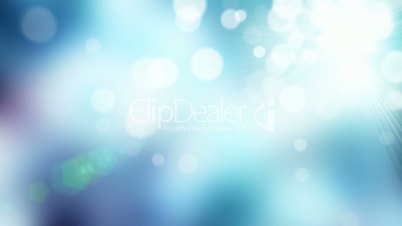 Cold colored defocused particles abstract background seamless loop
