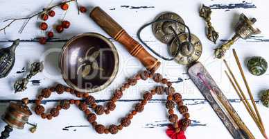 Tibetan religious objects for meditation