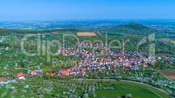 aerial of a village in germany