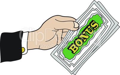 Hand with bonus