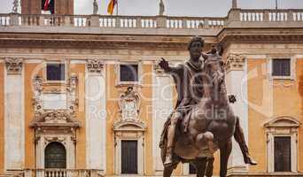 equestrian bronze statue of Marcus Aurelius in Rome