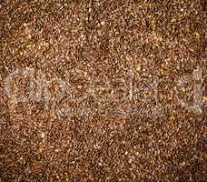 flax seeds, top view, full frame