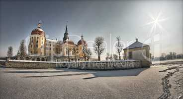 Moritzburg Castle In Winter With Lots Of Snow