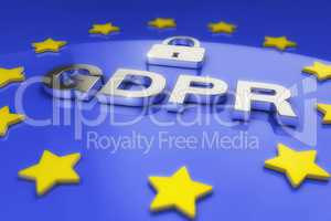 3d render - General Data Protection Regulation (GDPR) - European