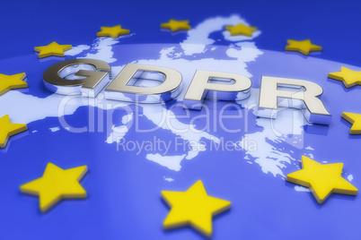 3d render - General Data Protection Regulation (GDPR) - European