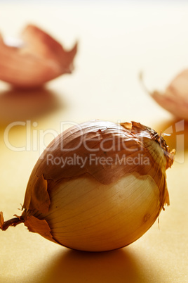 Onion close up. Healthy food