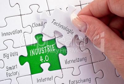 Industrie 4.0 Business Puzzle Konzept