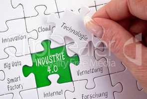 Industrie 4.0 Business Puzzle Konzept
