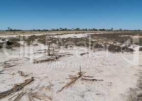 Salzsee im Outback von Western Australia