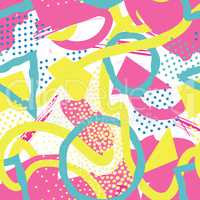Abstract seamless pattern Blots, dots geometric background